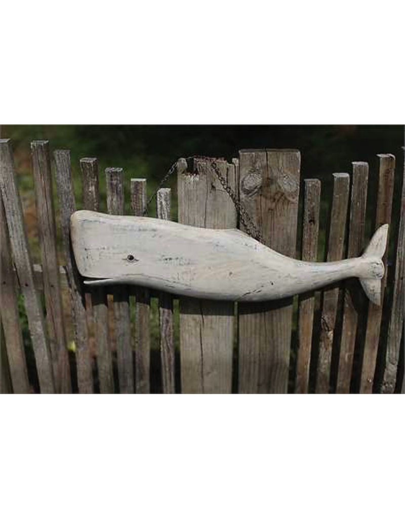 Plaques Carved Whale Wall Decor