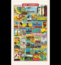 Tea Towels See America Tea Towel