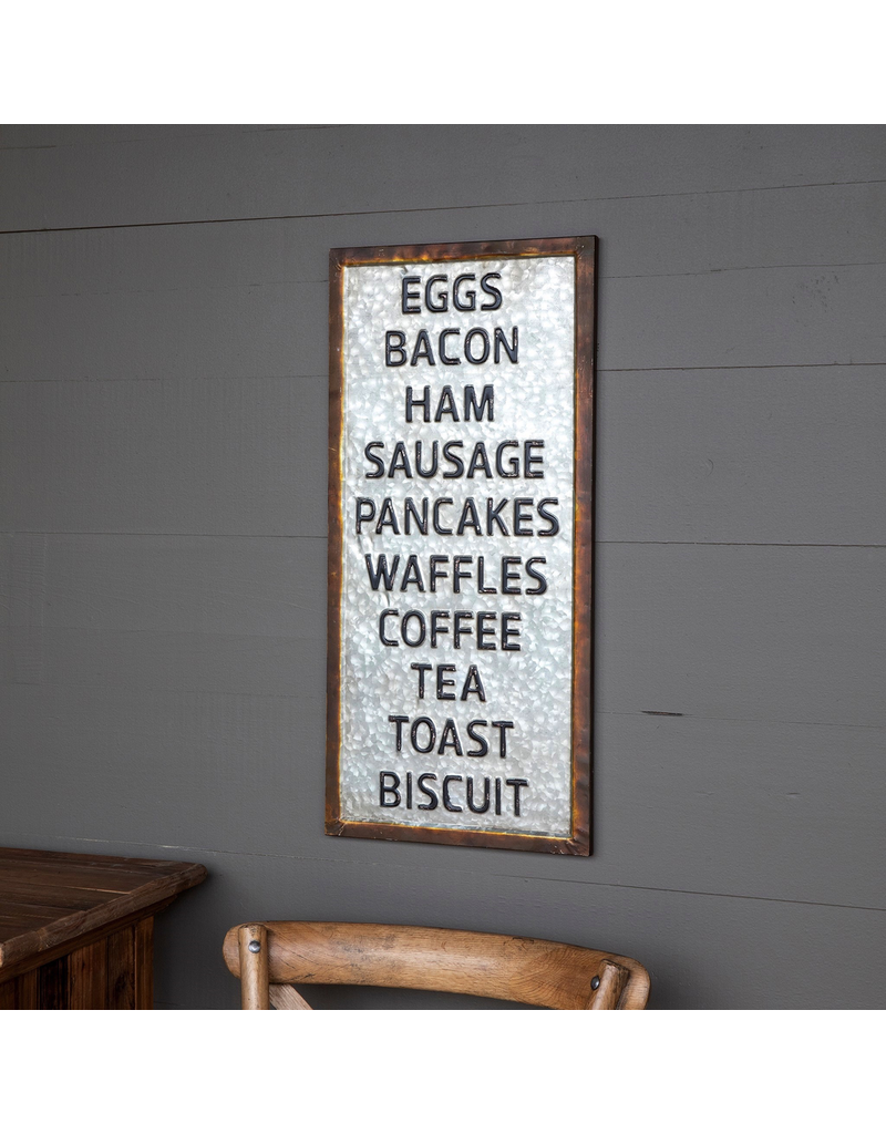 Plaques Breakfast Menu Sign
