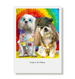 Greeting Cards Queenie & Presley Hippie Birthday Card