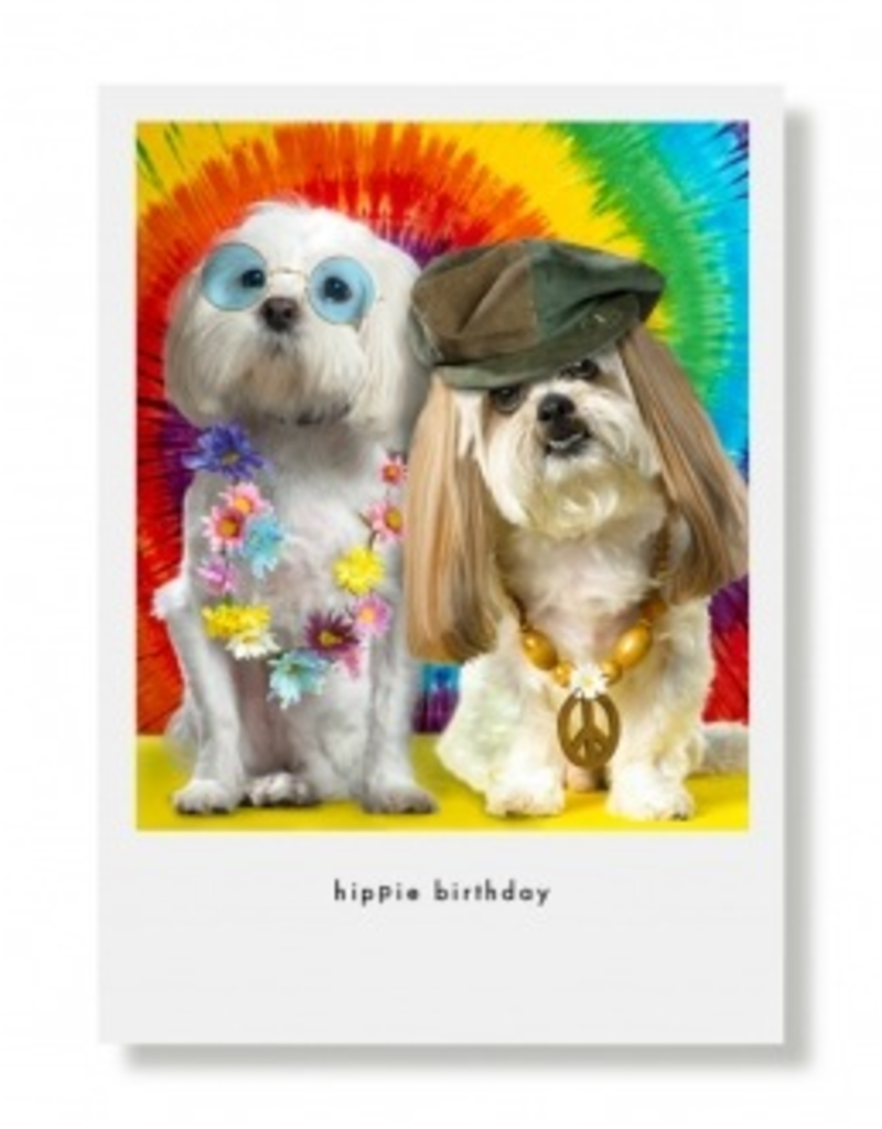 Greeting Cards Queenie & Presley Hippie Birthday Card