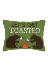 Pillows - Hooked Let's Get Toasted Bears Pillow