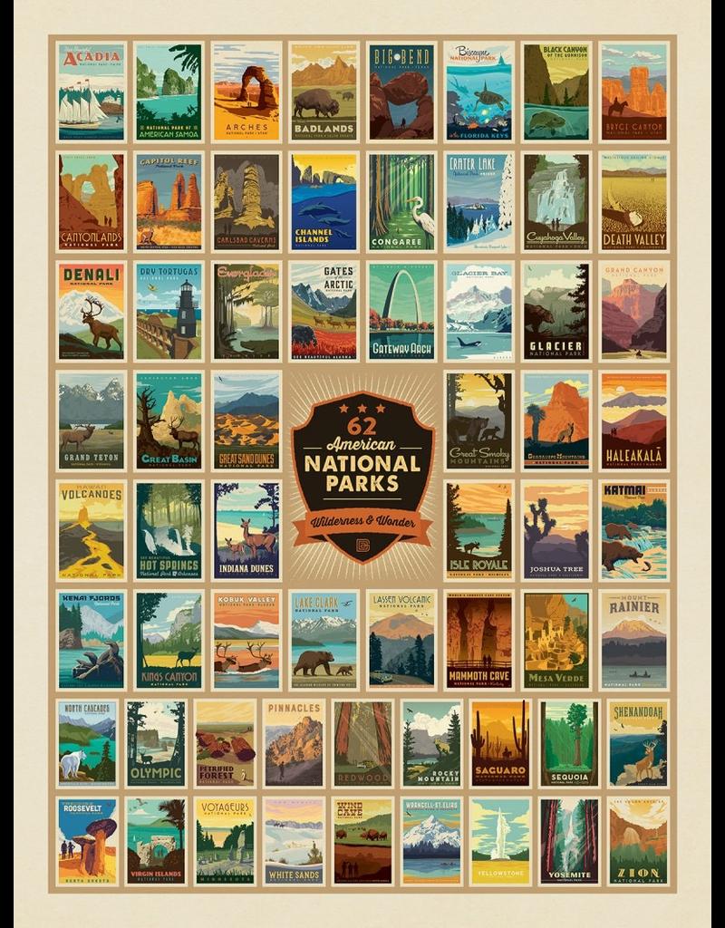 Prints 61 National Parks 18x24 Poster
