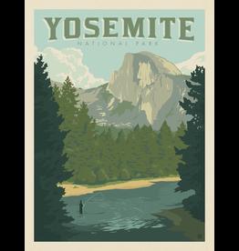 Prints Yosemite National Park Half Dome River 18x24 Poster