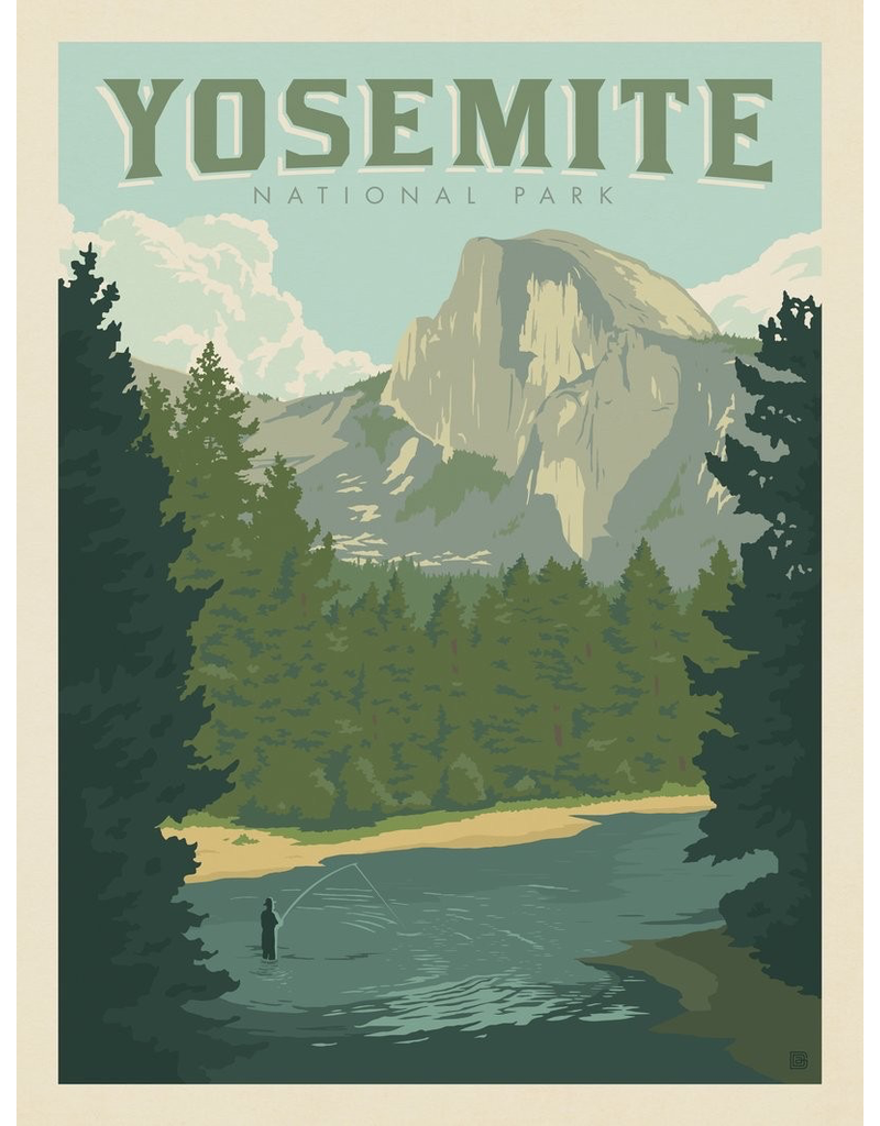 Prints Yosemite National Park Half Dome River 18x24 Poster