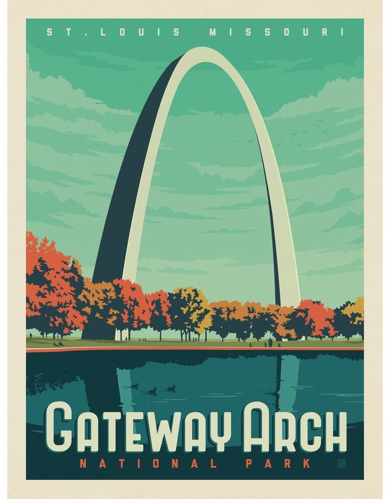 Prints Gateway Arch National Park 11x14 Print