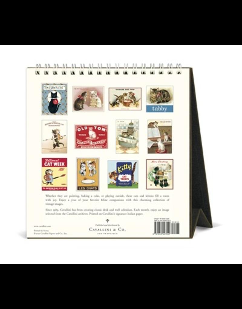 Calendars Vintage Cats 2021 Desk Calendar