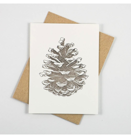 Greeting Cards - General Pinecone Letterpress Notecard