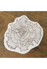 Stickers Mount Hood Topographic Sticker