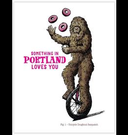 Greeting Cards Sasquatch Unicycle Greeting Card