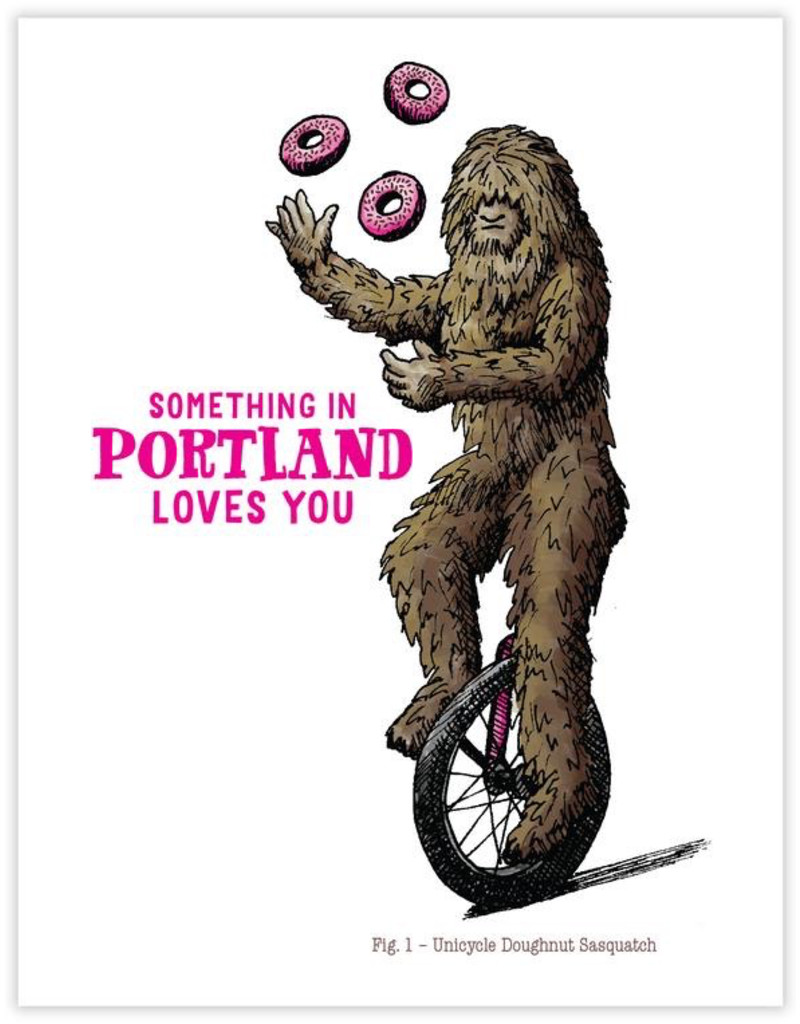 Greeting Cards Sasquatch Unicycle Greeting Card