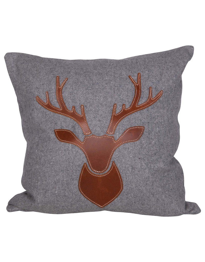 Pillows Stag Leather & Flannel Pillow