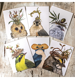 Notecards Boxed Saywer Fanciful Birds Boxed Notes
