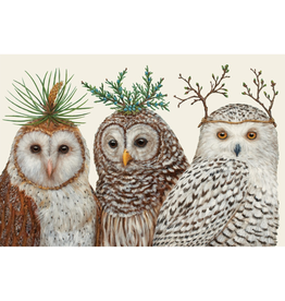 Placemats - Paper Winter Owls Paper Placemats