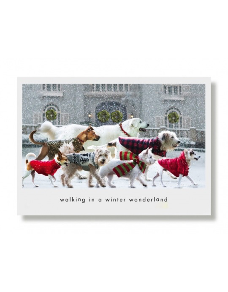 Greeting Cards Winter Wonderland Walkers Holiday Card