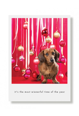 Greeting Cards Most Wienerful Time Of The Year Holiday Card