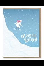 Greeting Cards - Christmas Enjoy The Season Sasquatch Card