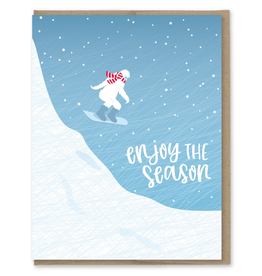 Greeting Cards - Christmas Enjoy The Season Sasquatch Card
