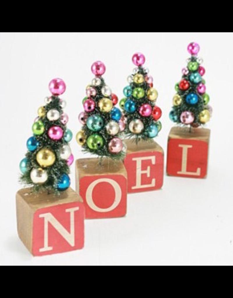 Accent NOEL Block Tree Set