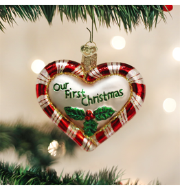 Ornaments 1st Christmas Peppermint Heart Ornament