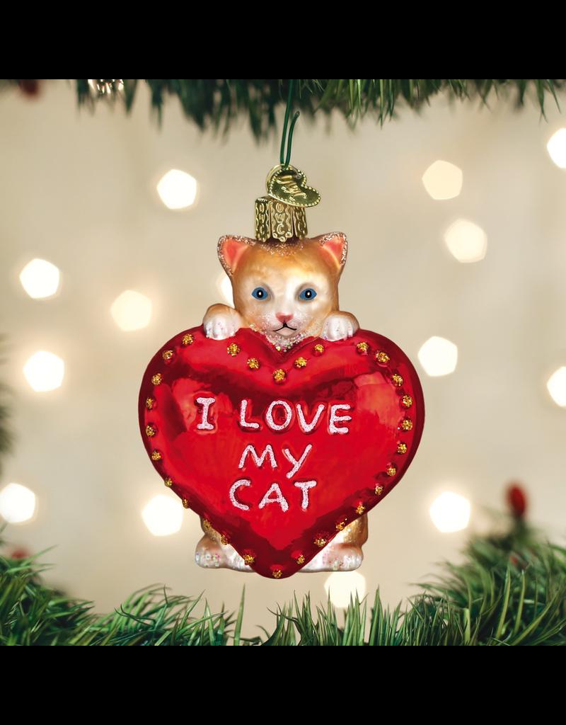 Ornaments I Love My Cat Ornament