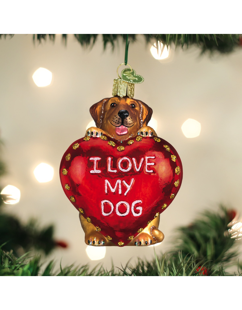 Ornaments I Love My Dog Ornament