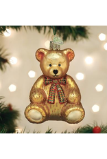 Ornaments Teddy Bear Plaid Bow Ornament