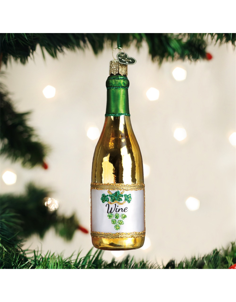 Ornaments White Wine Bottle Ornament
