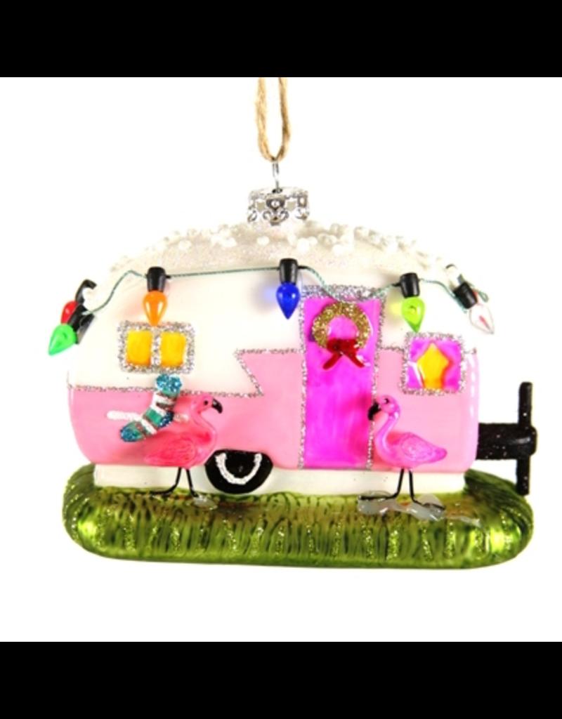 Ornaments Flamingo Camper Ornament
