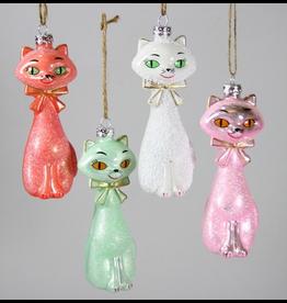 Ornaments Kitschy Retro Kitten Ornaments