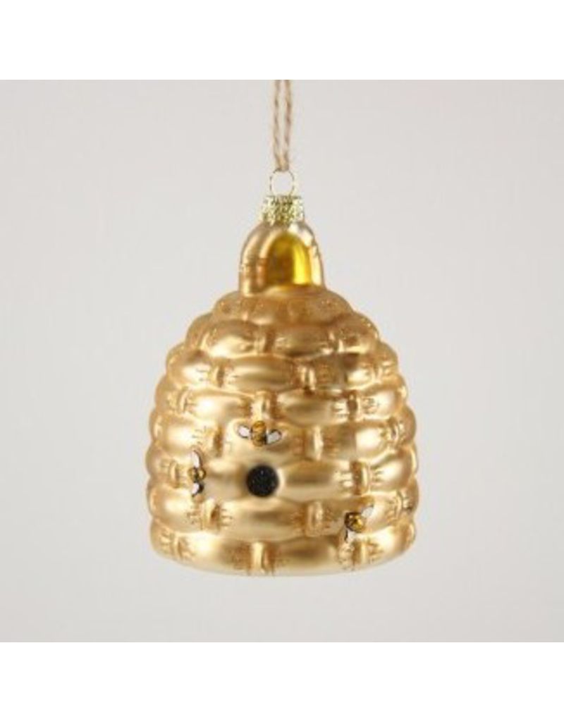 Ornaments Woven Bee Skep Ornament