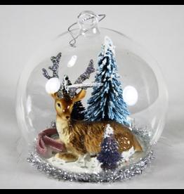 Ornaments Enchanted Forest Deer Globe Ornament