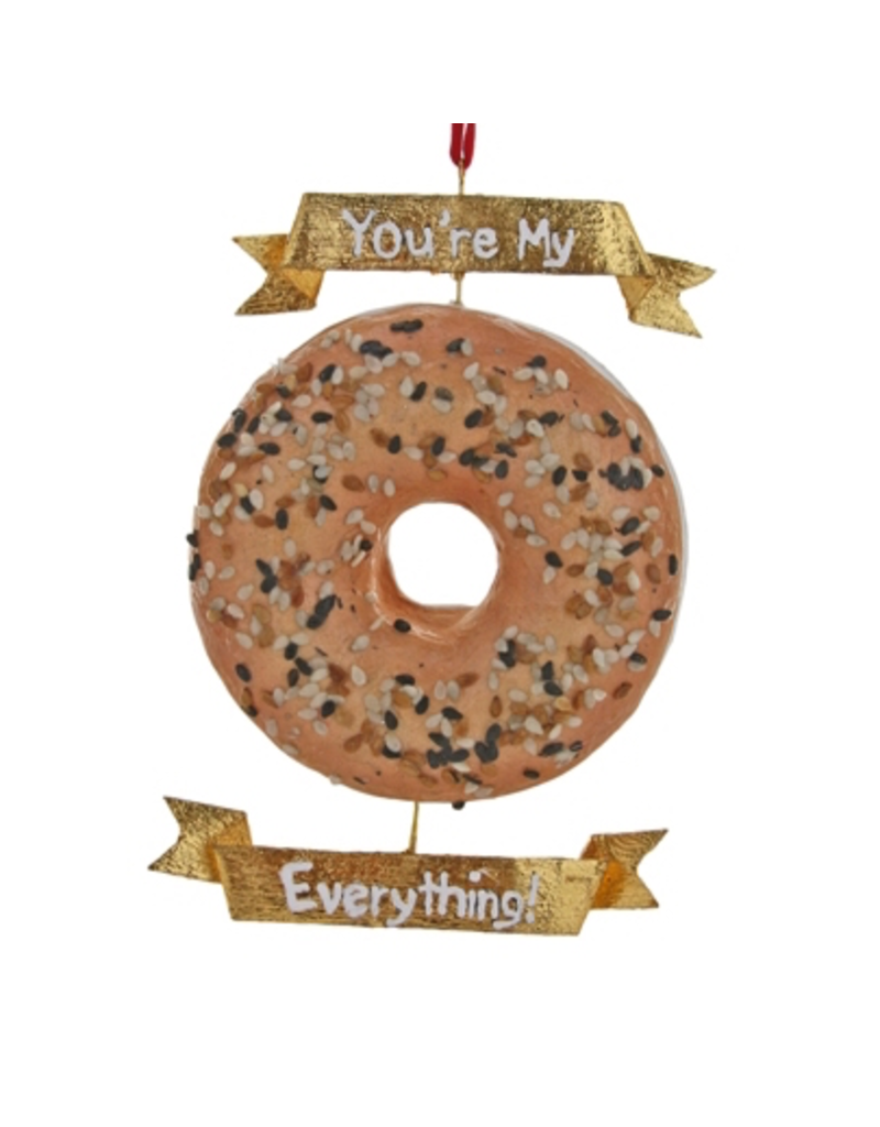 Ornaments You're My Everything Bagel Ornament