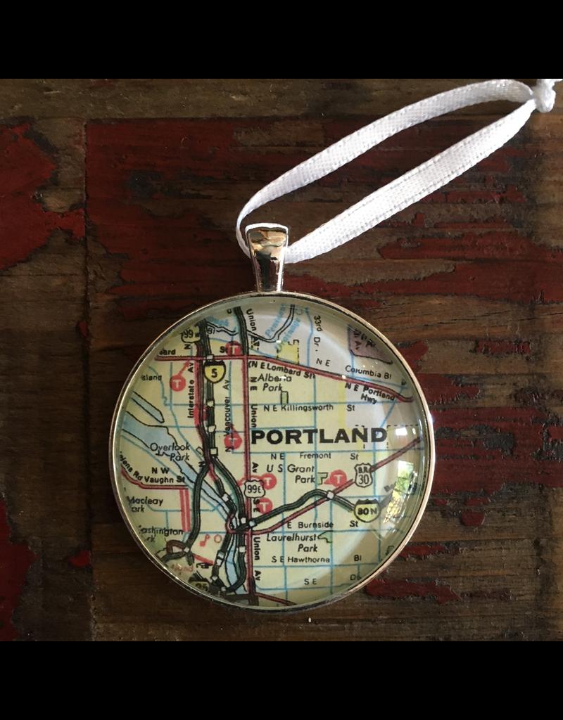 Ornaments Portland Map Ornament