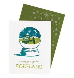 Greeting Cards Portland Snowglobe Holiday Cards