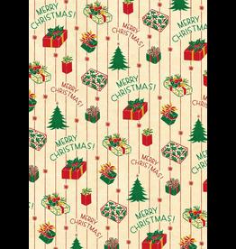 Gift Wrap Vintage Christmas Presents Wrap
