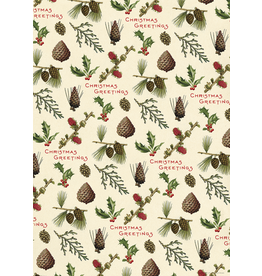Gift Wrap Christmas Pine Cones Wrap