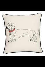 Pillows - Embroidered Dachshund Pillow