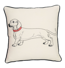 Pillows - Embroidered Dachshund Pillow