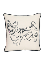 Pillows - Embroidered Corgi Pillow
