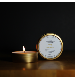 Candles Pine + Leather 4oz Candle