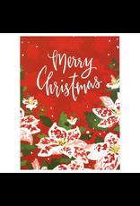 Greeting Cards - Christmas Poinsettias Christmas Single Card