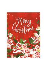 Greeting Cards - Christmas Poinsettias Christmas Set of Cards