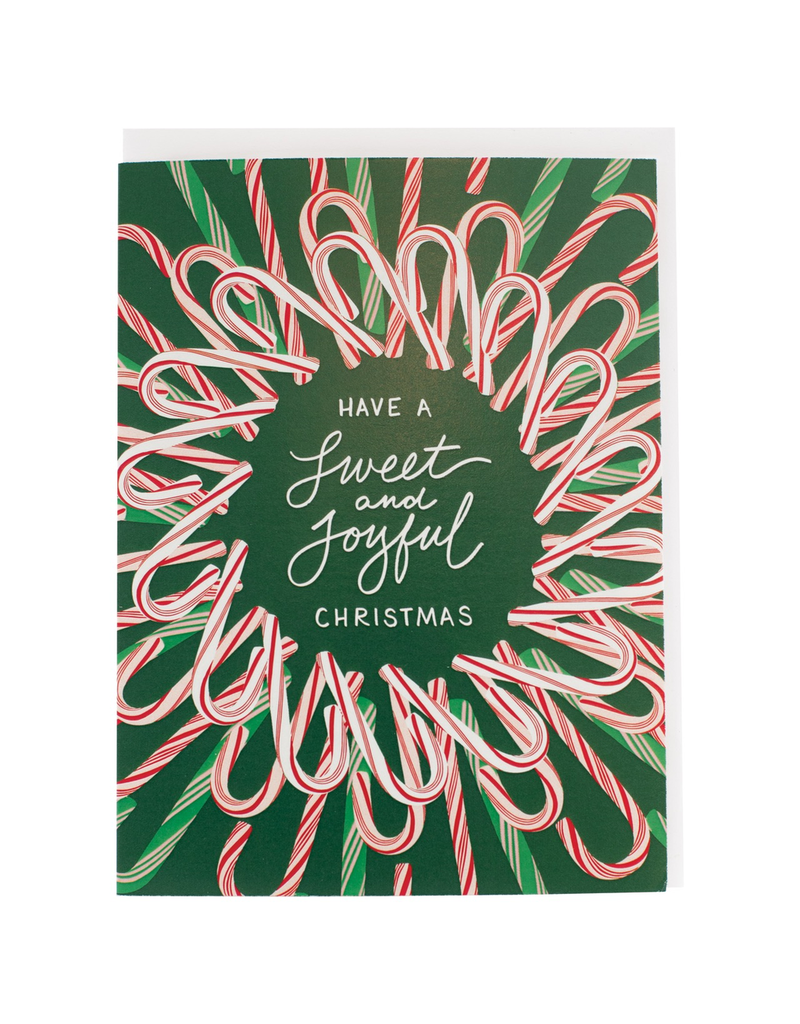 Greeting Cards - Christmas Sweet Candy Cane Wreath Set of Cards