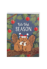 Greeting Cards Squirrels With Cocoa Holiday Card
