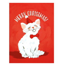 Greeting Cards Merry Cat Christmas Single Card