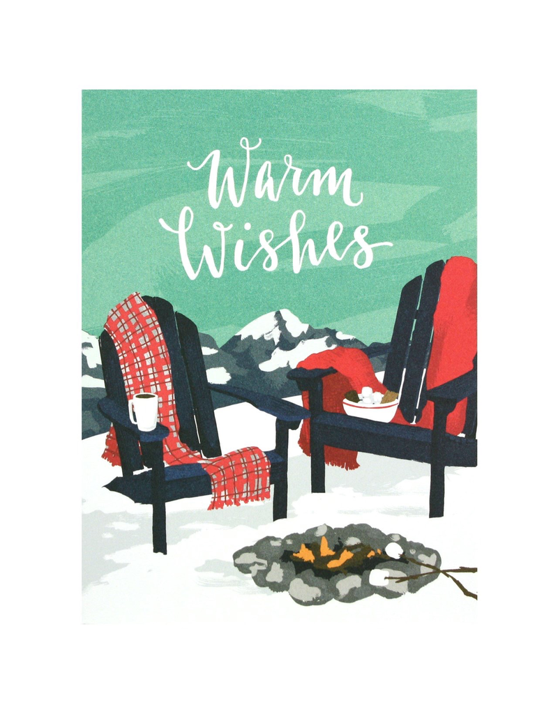 Greeting Cards Adirondack Chairs Holiday Single Card