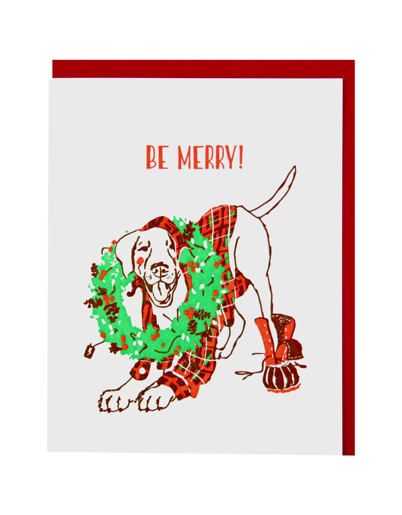 Greeting Cards Merry Mutt Single Card