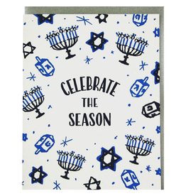 Greeting Cards - Hanukkah Celebrate The Season Hanukkah Single Card