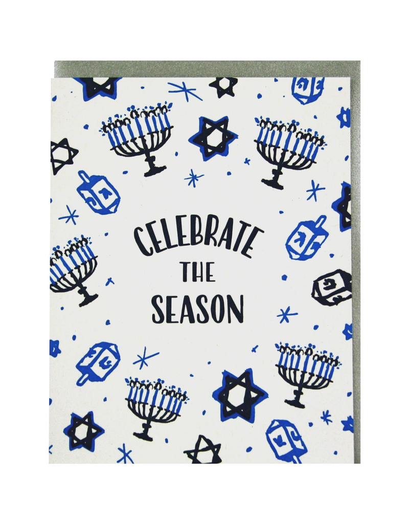 Greeting Cards - Hanukkah Celebrate The Season Hanukkah Single Card